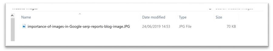 Example of a good file name for an image