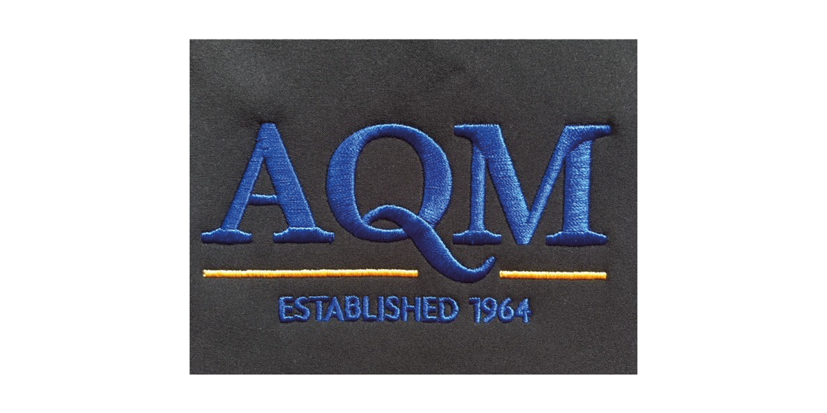 AQM Website Case Study - Image of embroidery for AQM