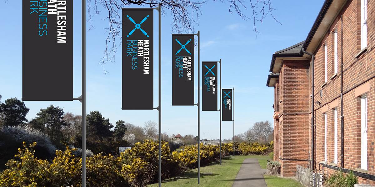 Martlesham Heath Business Park banners
