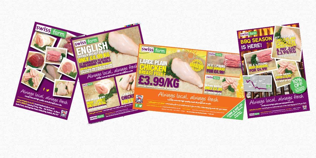 Swiss Farm Butchers advertisement examples