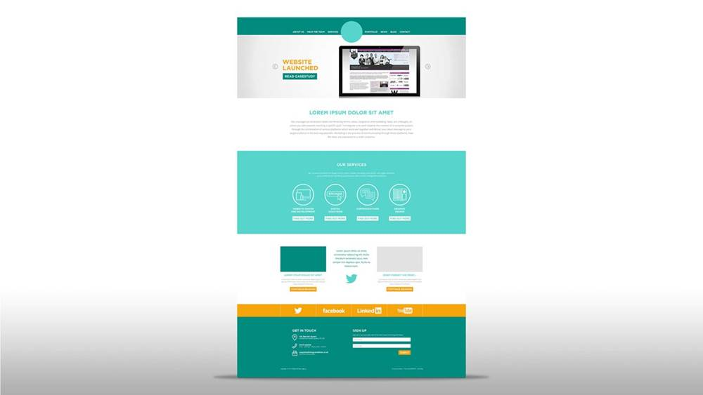 Design Trends - web page example